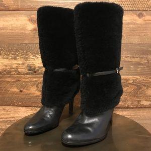 Ralph Lauren Faux Fur Boots- 7
